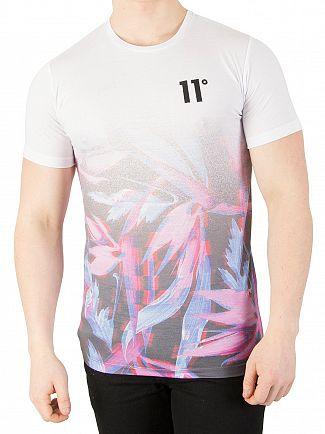 11 Degrees Glitch Leaf Fade Sub T-Shirt