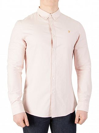 Farah Vintage Pink Brewer Slim Shirt