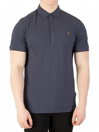 Farah Vintage Navy New Merriweather Polo Shirt