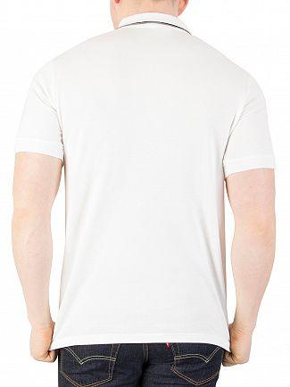Fila Vintage White Fila Lomardo Polo Shirt