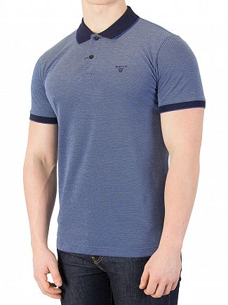 Gant Persian Blue Oxford Pique Rubber Polo Shirt