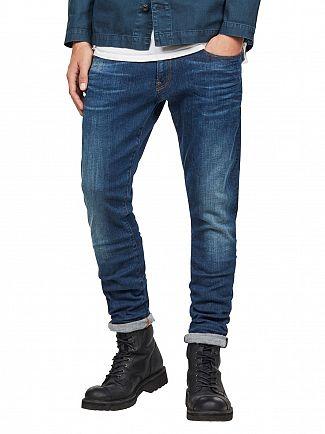 G-Star Dark Aged 3301 Deconstructed Super Slim Jeans