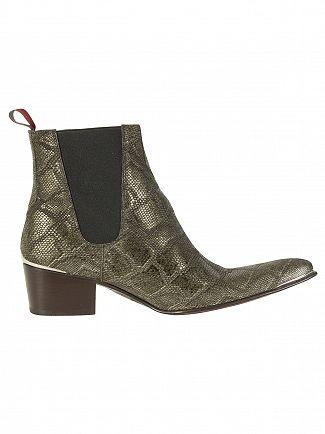 Jeffery West Fahar Pitone Bosque/Para Viv Dark Brown Forest Shoes