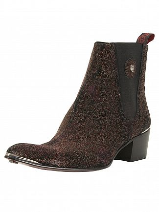 Jeffery West Zuchero Red/Para Viv Black Leather Sylvian Boots