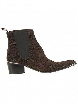 Jeffery West Zuchero Red/Para Viv Black Leather Sylvian Boots