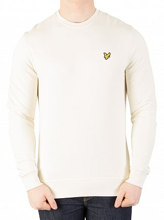 Lyle & Scott Seashell White Logo Sweatshirt