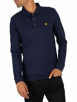 Lyle & Scott Navy Longsleeved Poloshirt