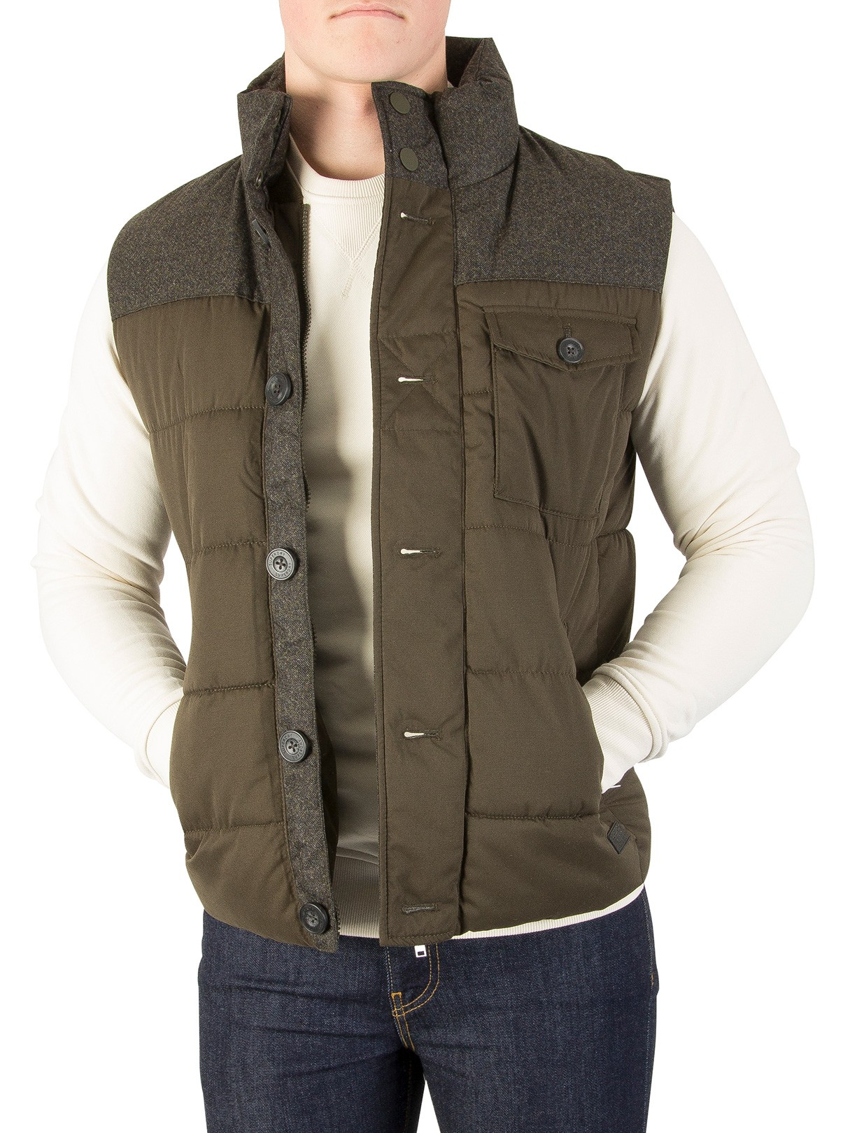 Tweed Gilet Superdry Tech Khaki Khaki Superdry TP1nZf