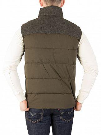 Superdry Khaki Tech Tweed Gilet