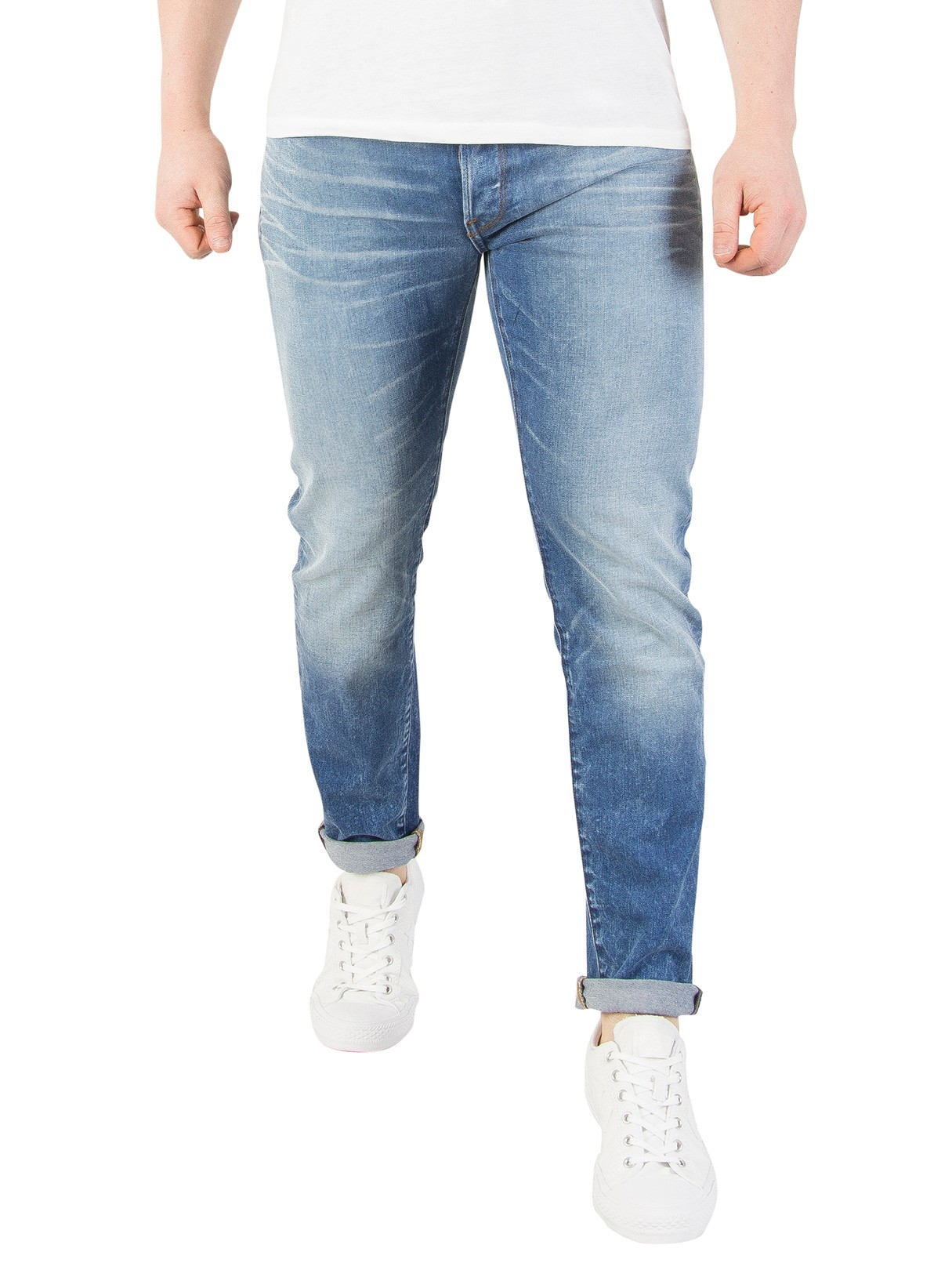 fb32f8c7 G-Star Light Aged 3301 Slim Jeans