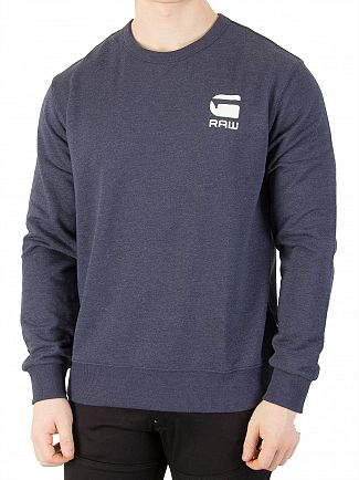 G-Star Sartho Blue Heather Doax Sweatshirt