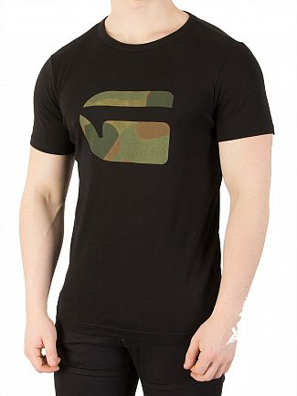 G-Star Dark Black Mai Slim Camo T-Shirt