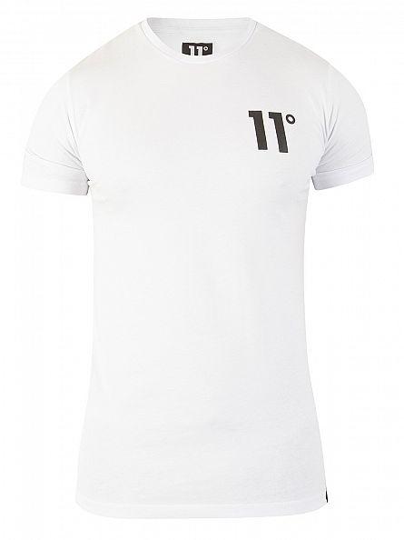 11 Degrees White Core Logo T-Shirt