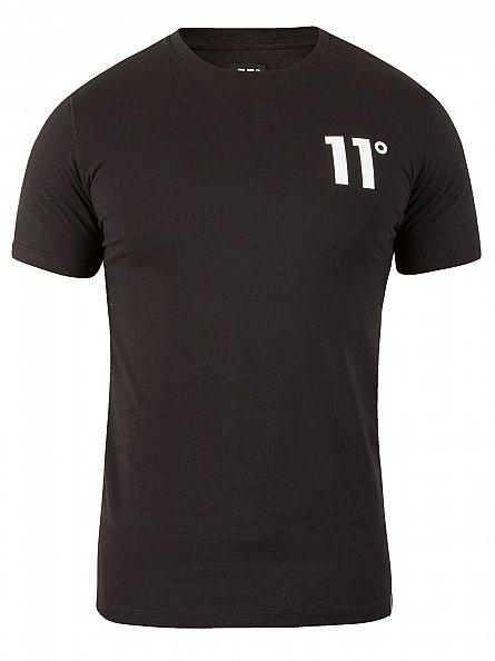 11 Degrees Black Core Logo T-Shirt