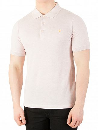 Farah Vintage Rose Marl Blaney Polo Shirt