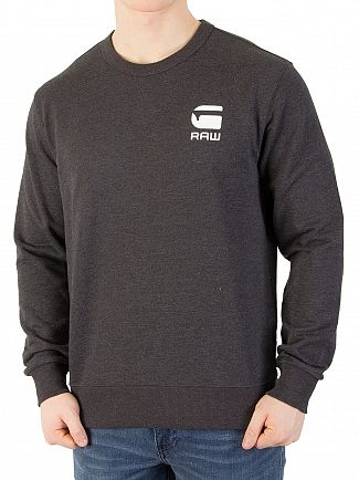 G-Star Dark Black Heather Doax Sweatshirt