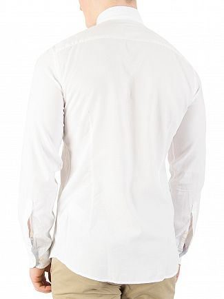 Hackett London Optic White Slim Washed Oxford Shirt