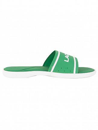 Lacoste Green/White L.30 Slide 118 3 CAM Flip Flops