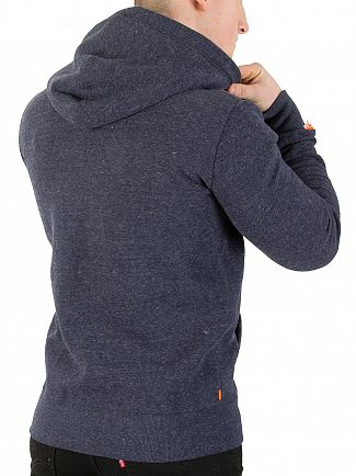Superdry Bass Blue Grindle Orange Label Cali Zip Hoodie