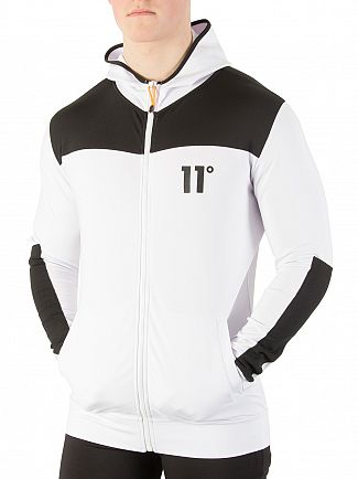 11 Degrees Black / White Poly Zip Hoodie