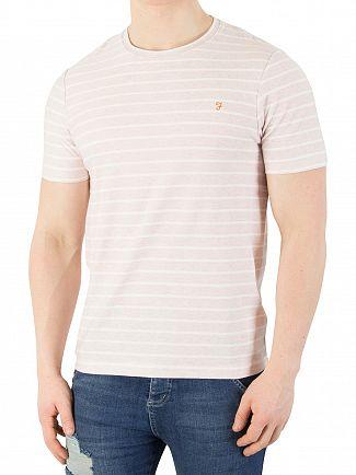 Farah Vintage Rose Marl Salford Stripe T-Shirt