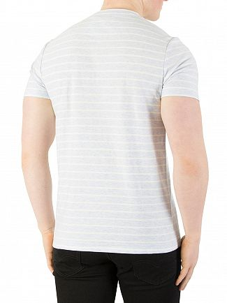 Farah Vintage Lake Blue Marl Salford Stripe T-Shirt