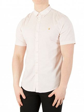 Farah Vintage Seashell Steen Slim Shortsleeved Shirt