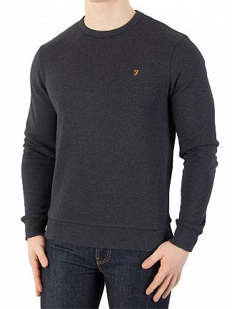 Farah Vintage True Navy Marl Tim Sweatshirt
