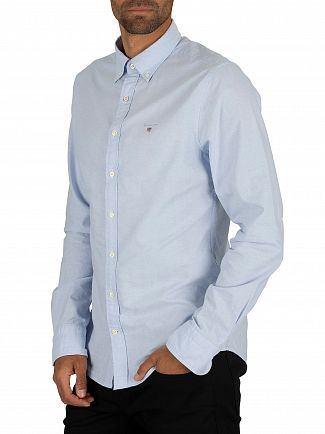 Gant Capri Blue Button Down Oxford Shirt