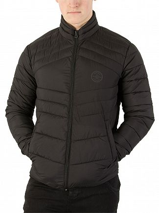 Jack & Jones Black New Landing Stand Collar Jacket