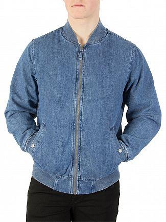 Levi's Indigo Lyon Bomber Jacket