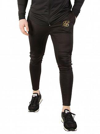 Sik Silk Black / Gold Athlete Track Joggers