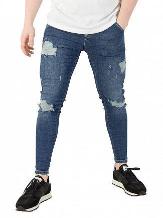 Sik Silk Midstone Skinny Distressed Denim Jeans
