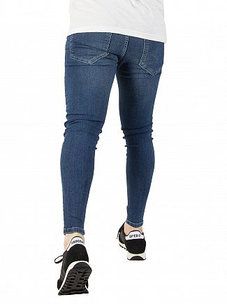 Sik Silk Midstone Skinny Distressed Denim Jeans