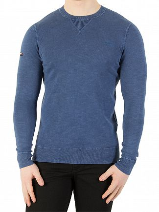 Superdry Washed Legion Blue Garment Dye L.A. Sweatshirt