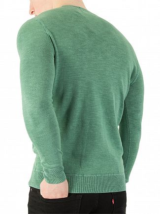 Superdry Washed Cape Green Garment Dye L.A. Sweatshirt