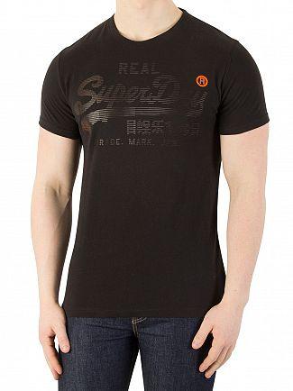 Superdry Half Time Black Real Logo 1st T-Shirt