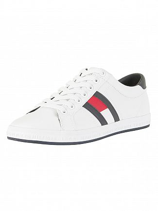 Tommy Hilfiger White Essential Flag Trainers