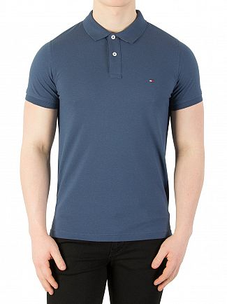 Tommy Hilfiger Dark Denim Heritage Slim Polo Shirt