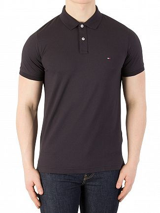 Tommy Hilfiger Jet Black Heritage Slim Polo Shirt
