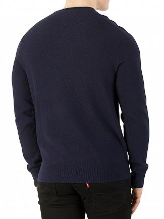 Tommy Hilfiger Navy Blazer Heather Pre-Twisted Ricecorn Knit