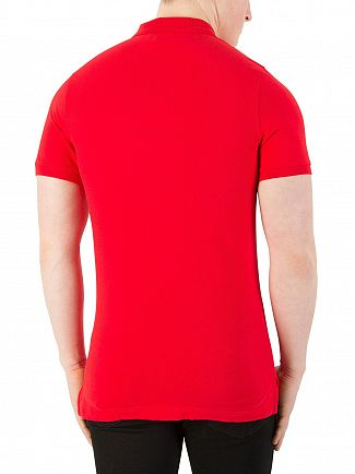 Tommy Jeans Racing Red Basic Slim Fit Polo Shirt