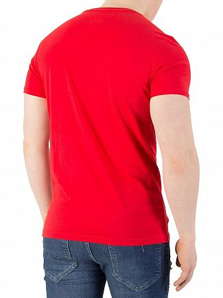 Tommy Jeans Racing Red Basic Slim Fit T-Shirt