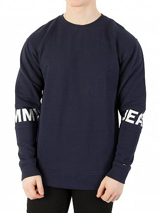 Tommy Jeans Black Iris Essential Banded Sweatshirt