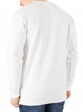 Tommy Jeans White Essential Graphic Sweatshirt