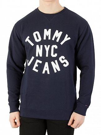 Tommy Jeans Black Iris Essential Graphic Sweatshirt
