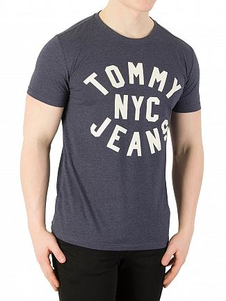 Tommy Jeans Black Iris Essential Graphic T-Shirt