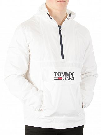 Tommy Jeans Classic White Pop Over Anorak Jacket
