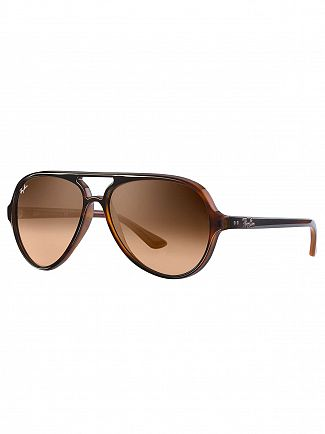 Ray-Ban Brown Cats 5000 Injected Sunglasses