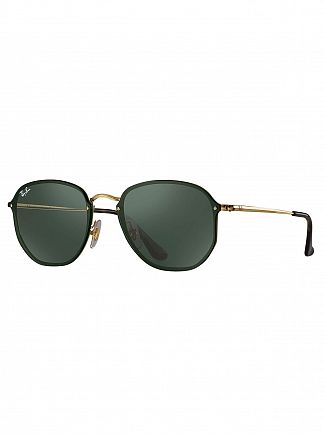 Ray-Ban Black Blaze Hexagonal Metal Sunglasses
